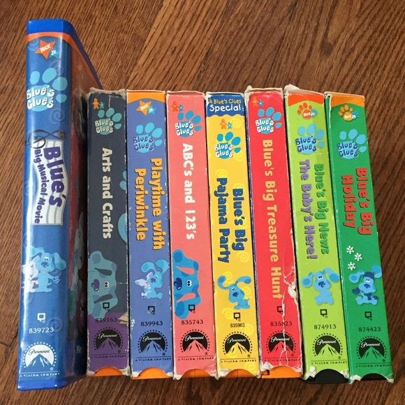 other blues clues vhs bundle of 8 poshmark